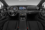 Stock photo of straight dashboard view of 2018 Mercedes Benz E-Class E300 4 Door Sedan Dashboard