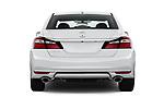Straight rear view of 2017 Honda Accord EX-L 4 Door Sedan Rear View  stock images