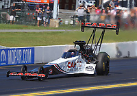 Sep 15, 2019; Mohnton, PA, USA; NHRA top fuel driver Steve Torrence during the Reading Nationals at Maple Grove Raceway. Mandatory Credit: Mark J. Rebilas-USA TODAY Sports