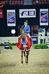 18 April 2015: Katie Laurie on Kiwi Iron Mark after winning the Jump-Off