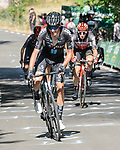 Romain Bardet (FRA) Team DSM attacks from the breakaway during Stage 14 of La Vuelta d'Espana 2021, running 165.7km from Don Benito to Pico Villuercas, Spain. 28th August 2021.     <br /> Picture: Cxcling   Cyclefile<br /> <br /> All photos usage must carry mandatory copyright credit (© Cyclefile   Cxcling)