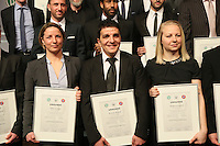 62. Jahrgang der Fußball-Lehrer: Inka Grings, Kenan Kocak, Katja Greulich - DFB Trainergala 2016, Palais Frankfurt