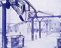 New York History:  West 12th St., 1869. Greenwich--9th St. El.  Photo '77.