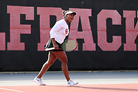 RALEIGH, NC - JANUARY 25: Ivana Corley of the University of Oklahoma during a game between Oklahoma and Florida at J.W. Isenhour Tennis Center on January 25, 2020 in Raleigh, North Carolina.