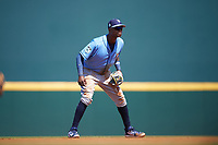 Tampa Bay Rays shortstop Tim Beckham (1) during a Spring Training game against the Pittsburgh Pirates on March 10, 2017 at LECOM Park in Bradenton, Florida.  Pittsburgh defeated New York 4-1.  (Mike Janes/Four Seam Images)