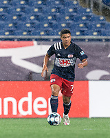 FOXBOROUGH, MA - SEPTEMBER 1: Damian Rivera #72 of New England Revolution II looks to pass during a game between FC Tucson and New England Revolution II at Gillette Stadium on September 1, 2021 in Foxborough, Massachusetts.