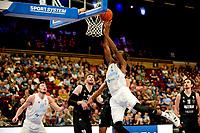 GRONINGEN - Basketbal, Donar - Apollo Amsterdam , Dutch Basketbal League, seizoen 2021-2022, 26-09-2021,  fraaie score Donar speler Amanze Egekeze