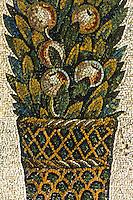 Ravenna: Mosaic--detail of decoration. Mausoleum of Galla Placidia, 5th century.