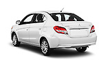 Car pictures of rear three quarter view of 2017 Mitsubishi Mirage-G4 SE-CVT 4 Door Sedan Angular Rear