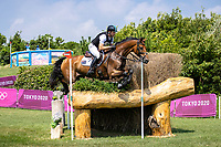 AUS-Kevin McNab rides Don Quidam during the Eventing Cross Country Team and Individual. Tokyo 2020 Olympic Games. Sunday 1 August 2021. Copyright Photo: Libby Law Photography