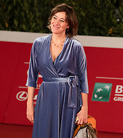 """Italian actress Valeria Bruni Tedeschi poses on the red carpet for the screening of the film """"Summer of '85"""" during the 15th Rome Film Festival (Festa del Cinema di Roma) at the Auditorium Parco della Musica in Rome on October 16, 2020.<br /> UPDATE IMAGES PRESS/Isabella Bonotto"""
