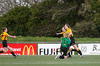 Kent FA U14 Girls Youth Cup Final. Bromley FC (white & Black) V Maidstone United (Amber & Black)