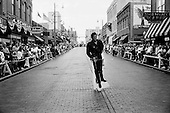 Memphis, Tennessee.August 10, 2002.A parade down Beale Street to mark Elvis Presley's death, 25 years ago..