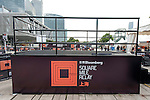 Branding at the Bloomberg Square Mile Relay near the Huangpu River in Shanghai, China. Photo by Marcio Machado / Power Sport Images