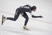 SPEEDSKATING: 07-12-2018, Tomaszów Mazowiecki (POL), ISU World Cup Arena Lodowa, 1000m Ladies Division A, Brittany Bowe (USA), ©photo Martin de Jong