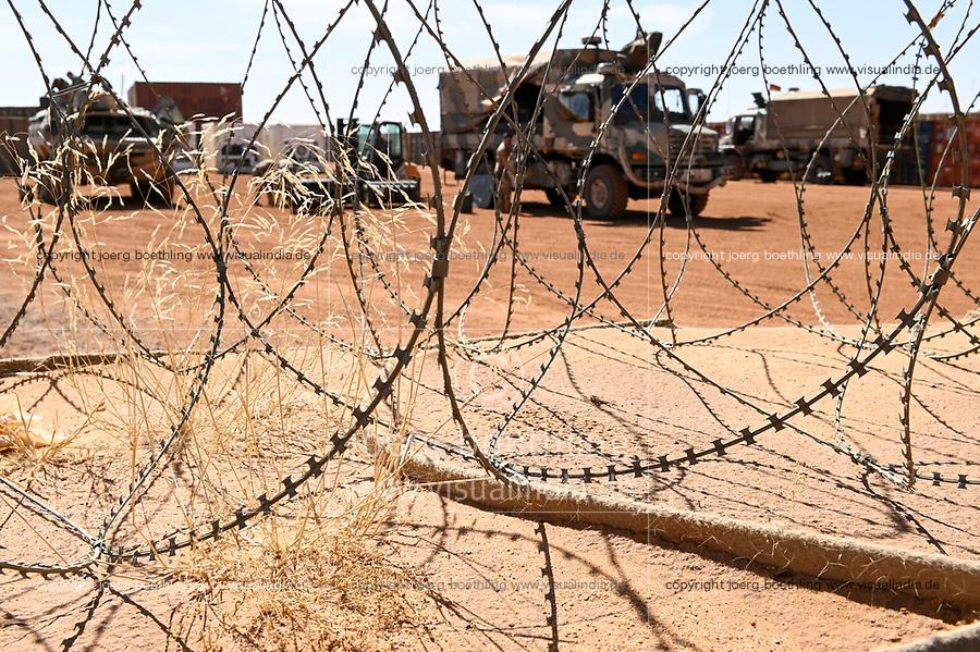 MALI, Gao, Minusma UN peace keeping mission, Camp Castor, german army Bundeswehr, military vehicle