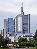Main, Skyline von Frankfurt, Hessen, Deutschland, Europa<br /> river Main, Skyline, Frankfurt, Hesse, Germany, Europe