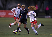Seattle, WA - Saturday March 24, 2018: Andi Sullivan, Jessica Fishlock, Tori Huster during a regular season National Women's Soccer League (NWSL) match between the Seattle Reign FC and the Washington Spirit at the UW Medicine Pitch at Memorial Stadium.