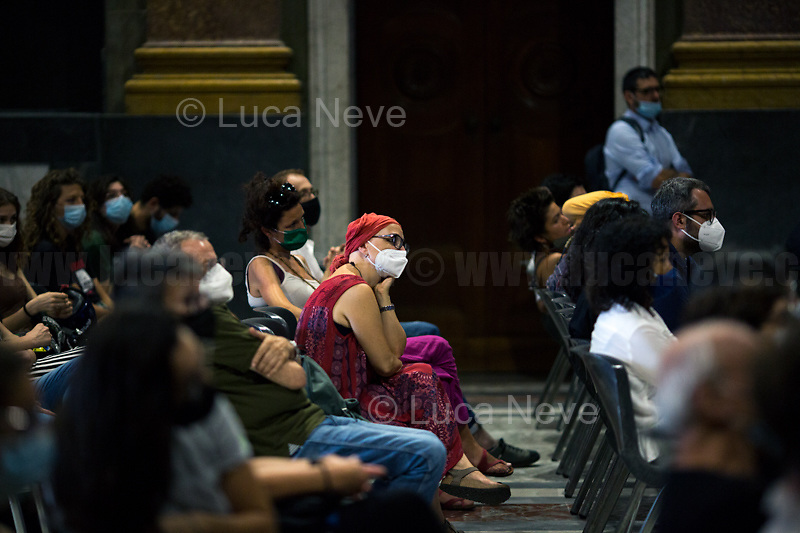 """Genoa (Genova, Liguria), Italy. 19th, 20th, 21st July 2021. Twenty years after the dramatic and terrifying events related to the 2001 Genoa's G8 meeting, according to Amnesty International: """"the most serious suspension of democratic rights in a Western country since the Second World War"""" (1.) and as stated on the 2001 """"Report on the situation of fundamental rights in the EU"""" the European Parliament's """"deplores the suspensions of fundamental rights that took place during public demonstrations, and in particular at the G8 meeting in Genoa, such as freedom of expression, freedom of movement, the right to physical integrity"""" (2.). As a reminder, the City of Genoa is State Gold Medal (Medaglia D'Oro) for its Antifascist Resistance in World War II.<br /> <br /> In these three days, throughout a series of events, Genoa and its People, survivors and witnesses, experts and activists, remembered what happened 20 years ago, discussed the present situation of a world dominated by """"casino capitalism"""", predatory neo-liberalism, wars, rightless globalization, environmental and ecosystem degradation, doped consumerism, sources' depredation, fake news, internet deregulated jungle, the reality of climate change and pandemics, and what a different future and society could be.<br /> <br /> FOR MORE INFO READ THE ARTICLE AT THE BEGINNING OF THIS STORY.<br /> <br /> Footnotes, Links:<br /> 1. http://bit.do/fRvdg<br /> 2. http://bit.do/fRvdi<br /> 3. http://bit.do/fRvdj<br /> 4. http://bit.do/fRvdn<br /> 5. http://bit.do/fRvdo<br /> 6. 12.10.18 - Sulla Mia Pelle: Stefano Cucchi's Film Screening At CSOA La Strada http://bit.do/fRvdr<br /> 7. http://bit.do/fRvdt & http://bit.do/fRvdu<br /> 8. http://bit.do/fRvdv & http://bit.do/fRvdw & http://bit.do/fRvdx<br /> 9. http://bit.do/fRvdz<br /> 10. http://bit.do/fRvdA<br /> 11. http://bit.do/fRvdB<br /> http://www.veritagiustizia.it/docs/G8_2021_prog_ITA.pdf http://www.veritagiustizia.it/documenti.php & http://www.veritagiustizia.it/doc_eng/<br """