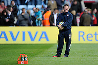 Mike Ford, Bath Rugby Head Coach, looks relaxed before the Aviva Premiership match between Harlequins and Bath Rugby at The Twickenham Stoop on Saturday 10th May 2014 (Photo by Rob Munro)