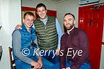 Enjoying the evening in The Dunloe Lodge in Killarney on Saturday, l to r: Jack Collins, John Brosnan (Ballydesmond) and Brian O'Connor (Tournafulla).