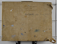 BNPS.co.uk (01202 558833)<br /> Pic: StroudAuctions/BNPS<br /> <br /> Pictured: Theodore Howard Somervell's personal watercolour and pencil sketchbook which he labelled 'TH Somervell, Ney Yoor, Travancore and Kashmir esp Nanga Parbat'<br /> <br /> Fascinating art work by a British mountaineer who twice climbed Mount Everest have sold at auction a century later for over £30,000.<br /> <br /> Theodore Howard Somervell took part in pioneering expeditions to the Himalayas in 1922 and 1924.<br /> <br /> He got to within 1,000ft of the summit, the highest point reached at that time, despite not using an oxygen tank.<br /> <br /> The skilled artist produced dozens of watercolours and sketches of the scenes he witnessed, including glacial peaks and camp life.<br /> <br /> His works sparked a bidding war when they were sold by a direct descendant with Stroud Auctions, of Gloucs. An oil on canvas painting of Everest base camp in 1922 sold for £7,500, almost 40 times its estimate.