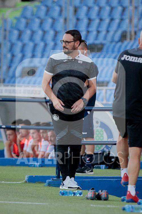 Getafe CF's coach Jose Bordalas during Preseason match between Getafe CF and Crotone FC at Colisseum Alfonso Perez in Getafe, Spain. August 02, 2019. (ALTERPHOTOS/A. Perez Meca)