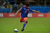SALVADOR – BRASIL, 15-06-2019: Juan Cuadrado de Colombia en acción durante partido de la Copa América Brasil 2019, grupo B, entre Argentina y Colombia jugado en el Itaipava Fonte Nova Arena de la ciudad de Salvador, Brasil. / Juan Cuadrado of Colombia in action during the Copa America Brazil 2019 group B match between Argentina and Colombia played at Itaipava Fonte Nova Arena in Salvador, Brazil. Photos: VizzorImage / Julian Medina / Cont / FCF