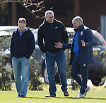 Ian Durrant with ex Killie team-mates Mark Reilly and Kevin McGowne