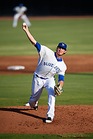 Dunedin Blue Jays starting pitcher Patrick Murphy (25) delivers a pitch during a game against the Tampa Tarpons on June 2, 2018 at Dunedin Stadium in Dunedin, Florida.  Dunedin defeated Tampa 4-0.  (Mike Janes/Four Seam Images)