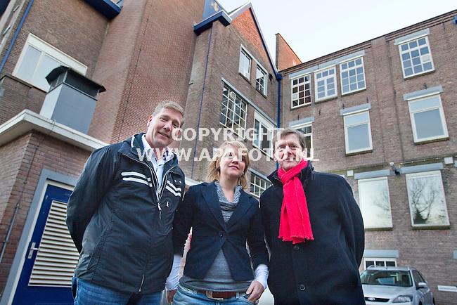 Veenendaal 150211 Ritmeestercomplex<br /> vlnr Gerard Heuvelman,Mieke Vullings,Johan Huibers<br /> <br /> Foto Frans Ypma APA-foto