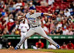 22 June 2019: Toronto Blue Jays pitcher Daniel Hudson on the mound in the 8th inning against the Boston Red Sox at Fenway :Park in Boston, MA. The Blue Jays rallied to defeat the Red Sox 8-7 in the 2nd game of their 3-game series. Mandatory Credit: Ed Wolfstein Photo *** RAW (NEF) Image File Available ***