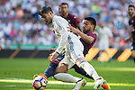 Real Madrid's Alvaro Morata and Eibar's Dani Garcia durign the match of La Liga between Real Madrid and SD Eibar at Santiago Bernabeu Stadium in Madrid. October 02, 2016. (ALTERPHOTOS/Rodrigo Jimenez)