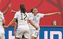 WINNIPEG, MANITOBA, CANADA - June 8, 2015: The Woman's World Cup USA vs Australia match at the Winnipeg Stadium . Final score, USA 3, Australia 1.