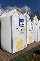26-3-2021 Bags of Ammonium Nitrate <br /> ©Tim Scrivener Photographer 07850 303986<br />      ....Covering Agriculture In The UK....
