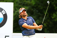 Victor Dubuisson on the 5th tee during the BMW PGA Golf Championship at Wentworth Golf Course, Wentworth Drive, Virginia Water, England on 28 May 2017. Photo by Steve McCarthy/PRiME Media Images.
