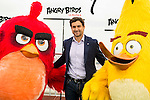 "Spanish tennis player David Ferrer during the presentation of the film ""Angry Birds"" at the Flat Roof of Torre Picasso in Madrid. April 29,2016. (ALTERPHOTOS/Borja B.Hojas)"