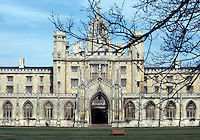 Cambridge: St. John's College, The Backs. Early 16th century. Photo '82.