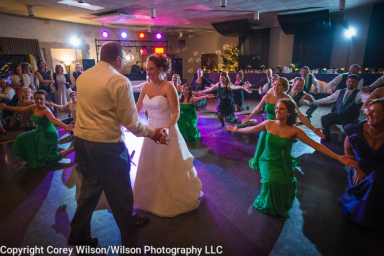 Mike and Stephanie Wunrow wedding in Glenmore, Wis., with receptions in Brillion, Wis., on March 18, 2016.
