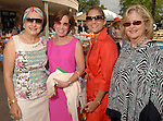 Joann Crassas, Maureen Hackett, Patty Busmire and Charlotte Strange at the River Oaks International Tennis Tournament Luncheon at the River Oaks Country Club Wednesday April 16,2008. (Dave Rossman/For the Chronicle)