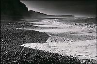Europe/France/Normandie/Haute-Normandie/76/Seine-Maritime/Fécamp: Plage de galet  et falaises de craie de la Côte d'Albâtre