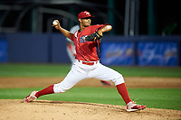 Williamsport Crosscutters relief pitcher Gustavo Armas (46) delivers a pitch during a game against the Mahoning Valley Scrappers on July 8, 2017 at BB&T Ballpark at Historic Bowman Field in Williamsport, Pennsylvania.  Williamsport defeated Mahoning Valley 6-1.  (Mike Janes/Four Seam Images)