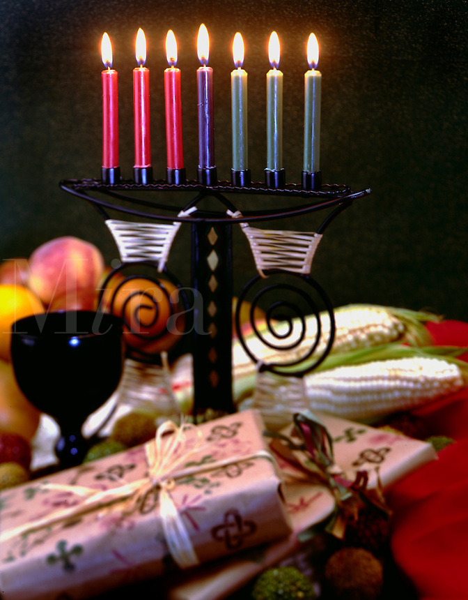 Kwanza Celebration traditional gifts and foods for the African American Holida
