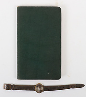 BNPS.co.uk (01202 558833)<br /> Pic: C&T Auctioneers/BNPS<br /> <br /> PICTURED: The book of his letters is being sold alongside a watchstrap containing Lt Shoosmith's photo his mother wore in his memory<br /> <br /> A poignant letter penned by a tragic British officer to his mother 'in the event of his death' weeks before he was killed on the battlefield has been unearthed 106 years on.<br /> <br /> Lieutenant Frank Stuart Shoosmith, of the 5th Battalion, Bedfordshire Regiment, kept her abreast of the disastrous Gallipoli campaign in 1915.<br /> <br /> He does not hide the horrors he witnessed as casualty numbers spiralled on the Allied side into the hundreds of thousands.<br /> <br /> In one heartbreaking passage, he tells his mother to 'take care' of his partner Ivy and 'help her to forget me'. Not long after, he was shot through the head while moving along the trench and killed on the spot.