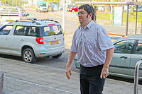 Pictured: Steven Grant arrives at Swansea Crown Court. Wednesday 23 May 2018<br /> Re: A martial arts instructor from Milford Haven has has been sentenced by at Swansea Crown Court for rendering two boys unconscious by performing choke holds on them.<br /> 29 year old Grant, had been due to stand trial earlier this year charged with three offences of assault causing actual bodily harm.<br /> But those two charges were amalgamated into one and Grant changed his pleas and admitted two offences of ABH.