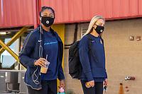 HERRIMAN, UT - JULY 4: Utah Royals FC Arrive at the field during a game between Sky Blue FC and Utah Royals FC at Zions Bank Stadium on July 4, 2020 in Herriman, Utah.