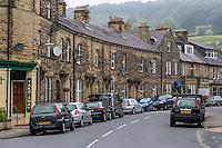 UK, England, Pateley Bridge, Yorkshire.  Neighborhood Street.