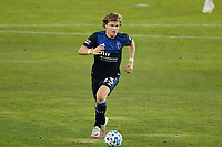 SAN JOSE, CA - OCTOBER 28: Florian Jungwirth #23 of the San Jose Earthquakes during a game between Real Salt Lake and San Jose Earthquakes at Earthquakes Stadium on October 28, 2020 in San Jose, California.