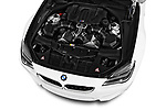Car Stock 2017 BMW M6 - 2 Door Convertible Engine  high angle detail view
