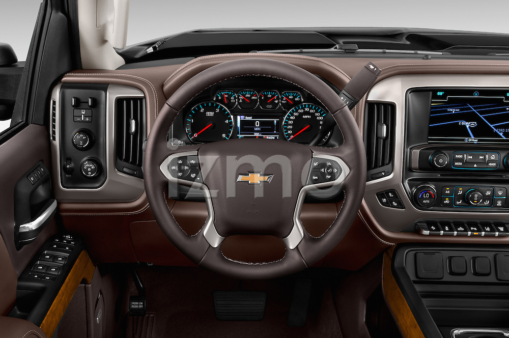 Car pictures of steering wheel view of a 2016 Chevrolet Silverado 2500Hd High Country 4 Door Pick Up Steering Wheel